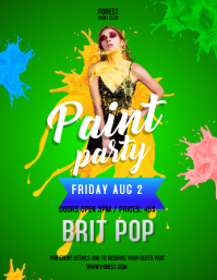 Green Paint Party Poster