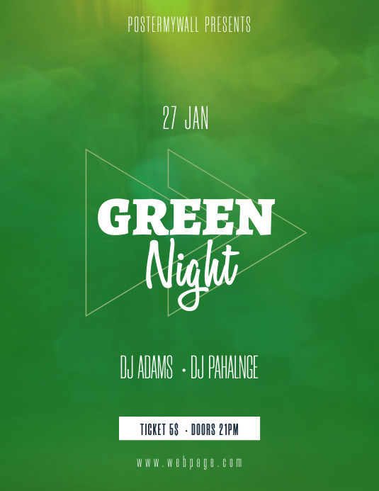 Green Party Flyer Template