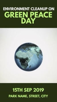 Green peace Day Instagram Story template