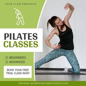 Green Pilates Class Ad Square Video