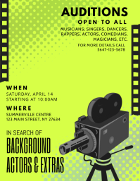 Green Play Auditions Casting Call Flyer
