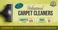 Green Professional Cleaners Ad Facebook Image Isithombe Esabiwe ku-Facebook template
