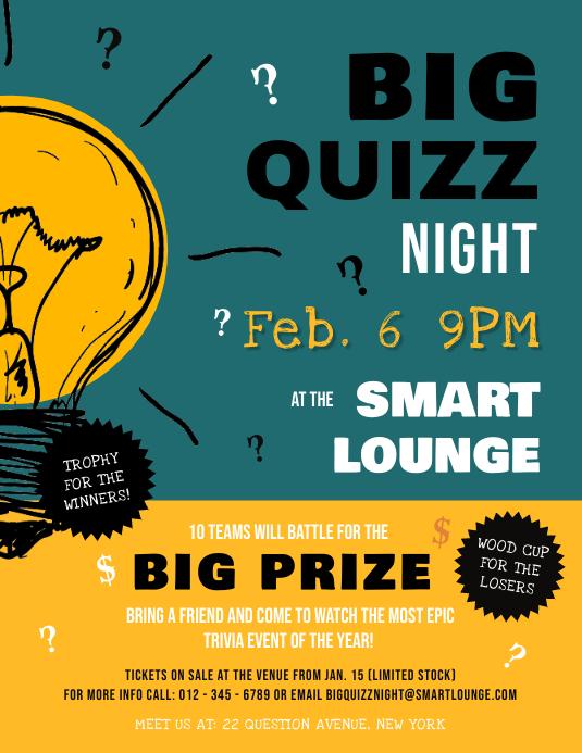 Green Quiz Night Flyer
