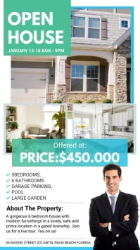 Green Real Estate Agency Realtor Ad Digital Display (9:16) template