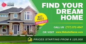 Green Real Estate Facebook Post template