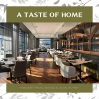 Green Restaurant Ambience Instagram Image
