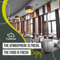 Green Restaurant Ambience Square Video