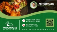 Green Restaurant Business Card Design template