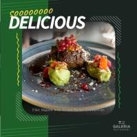 Green Restaurant Food Square Video