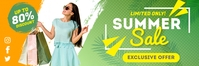 Green Retail Shopping Sale Email Header Templ template