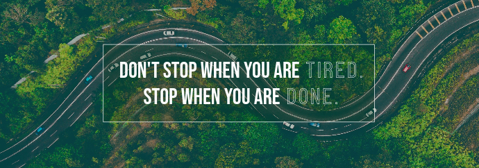 Green Roads Quote Tumblr Banner template