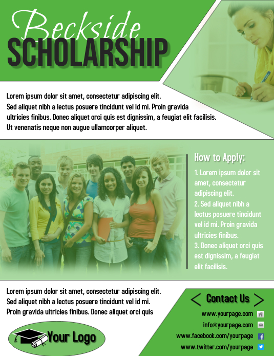 Green Scholarship Flyer