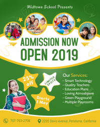 Green School Admission Poster