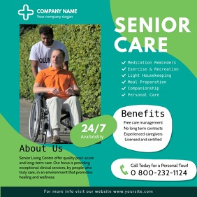 Green Senior Care Ad Instagram Video