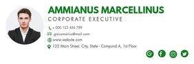 green shades email digital signature Intestazione e-mail template
