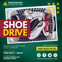 Green Shoe Drive Charity Instagram Post Templ template