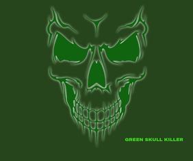 GREEN SKULL KILLER TATTOO TEMPLATE Medium Reghoek