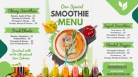 Green Smoothie Bar Menu Digital Display Templ template