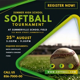 Green Softball Tournament Video