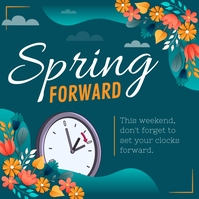 Green Spring Forward Instagram Image template