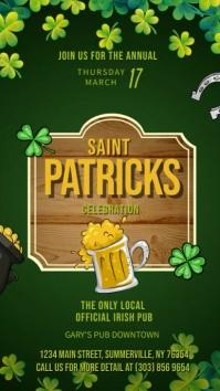Green St Patty's Day Digital Display