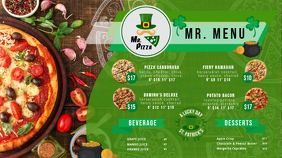 Green St Patty's Day Pizza Menu