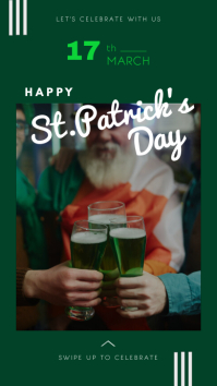 Green St.Patrick's Day Event Instagram Story