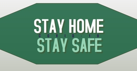 Green Stay Home Stay Safe Facebook 广告 template