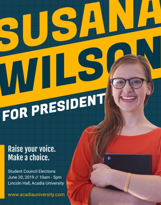Green Student Council Election Flyer