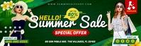 Green Summer Shopping Sale 2' x 6' Banner Tem template