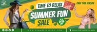 Green Summer Shopping Sale Email Header Templ template