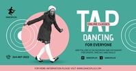 Green Tap Dancing Class Online Facebook Post template