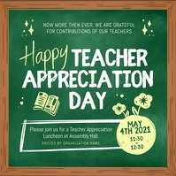 Green Teacher Appreciation Day Instagram Imag template
