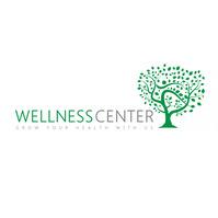 Green tree icon health logo template design