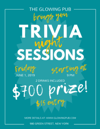 Green Trivia Night Sessions Flyer template