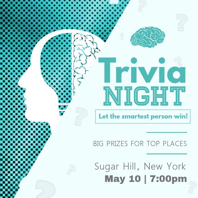 Green Trivia Night Square Video
