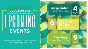 Green Upcoming Events Facebook Cover Video