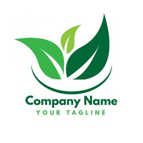 Green Vegetarian Business Logo Template