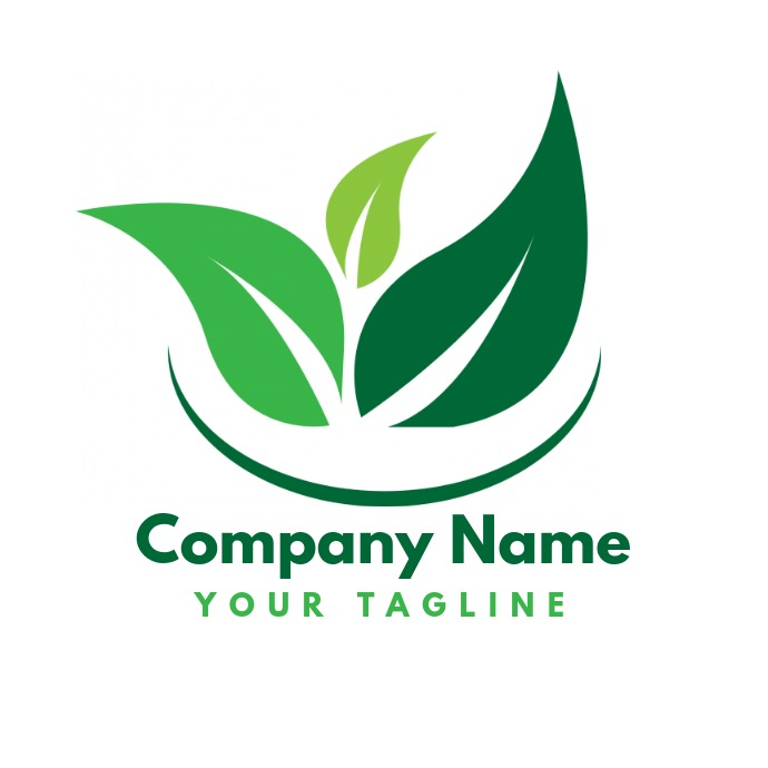 Green Vegetarian Business Logo Template