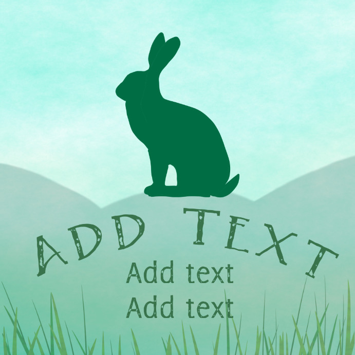 green wild hare instagram customizable template