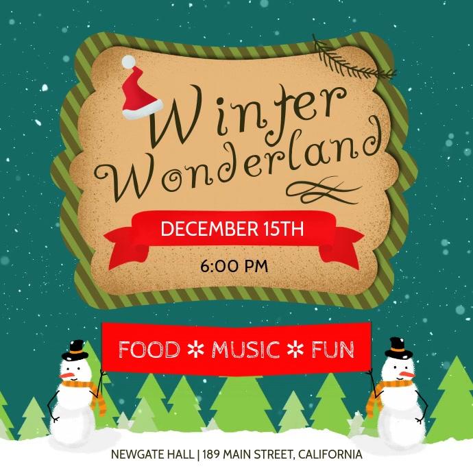 Green Winter Wonderland Event Square Video