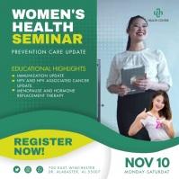 Green Women's Health Conference Ad Cuadrado (1:1) template