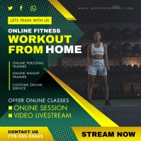 Green Workout Exercise App Custom Video Ad