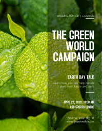 Green World Campaign Earth Day Flyer template