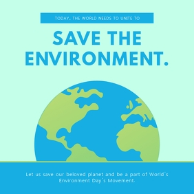 Green World Environment Day Instagram Image template