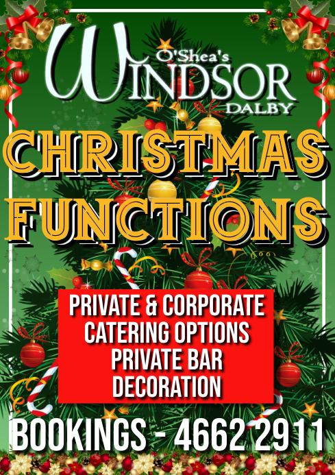 Green Xmas Bookings Poster A1 template