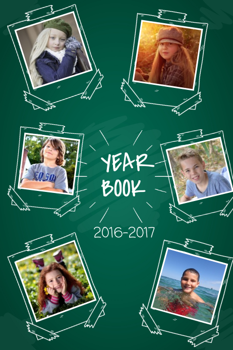 Green Yearbook Page Template โปสเตอร์
