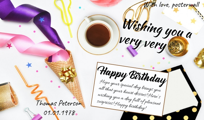 greeting card Label template