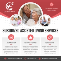 Grey & Pink Assisted Living Instagram Image Instagram-Beitrag template
