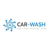 grey and blue car wash icon logo template des